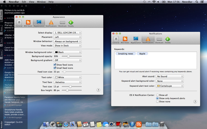 NewsBar for Mac OS X